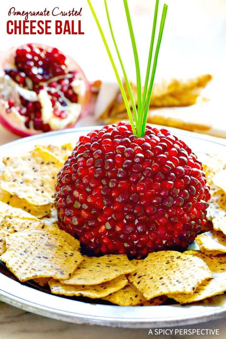 Best Pomegranate Crusted Cheese Ball Recipe