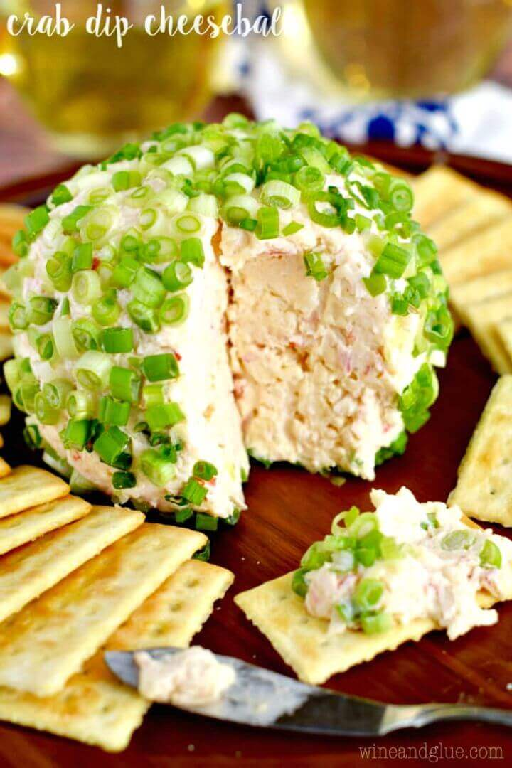Easy Crab Dip Cheeseball Recipe
