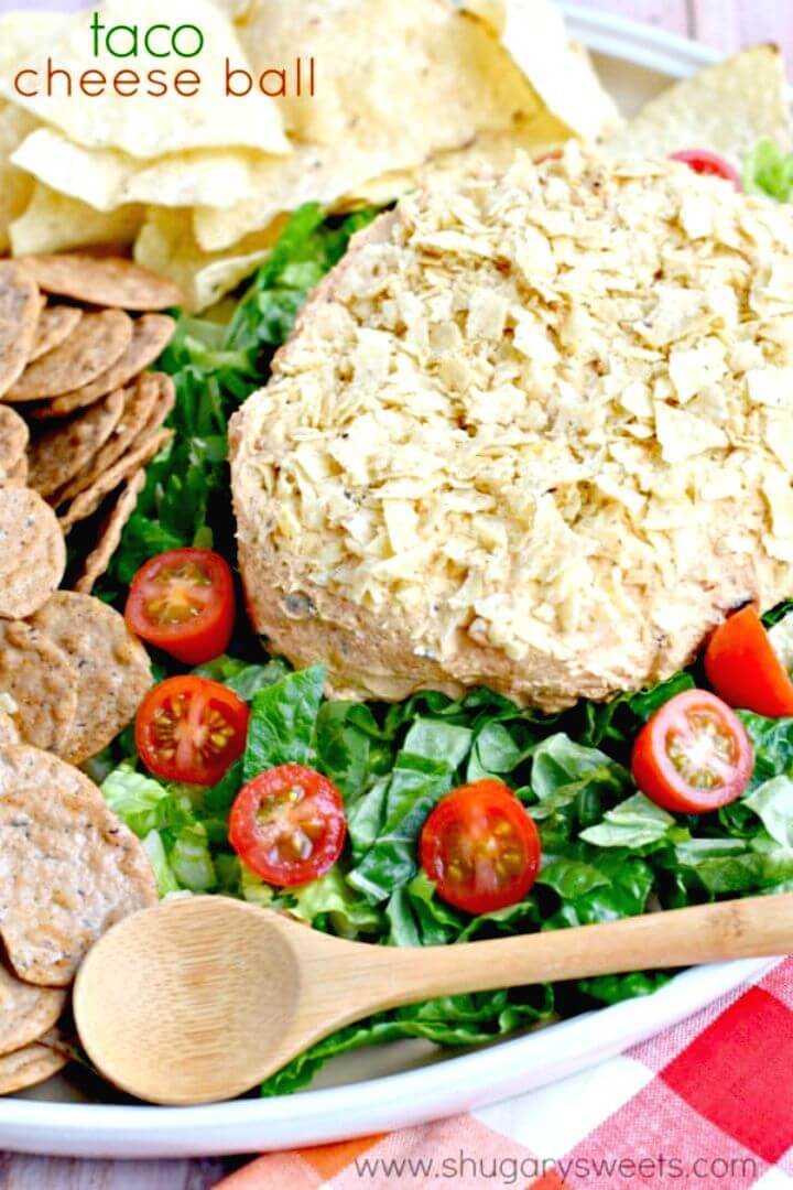Delicious Taco Cheese Ball Recipe