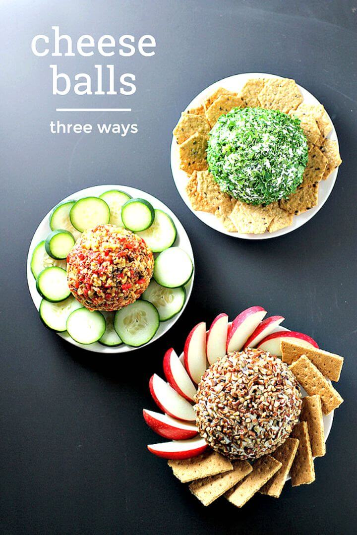 Cheese Balls Three Ways Recipe