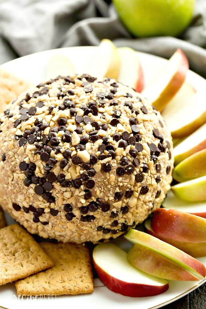Prepare Snickers Cheese Ball
