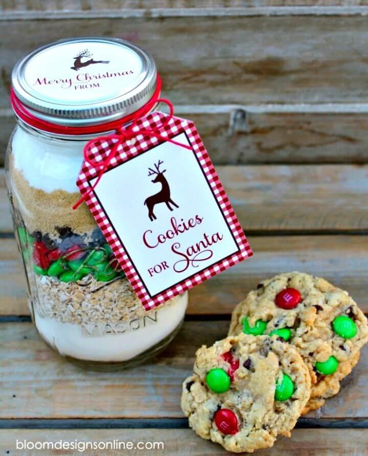 Easy to Make Cookies Recipe For Santa Jars