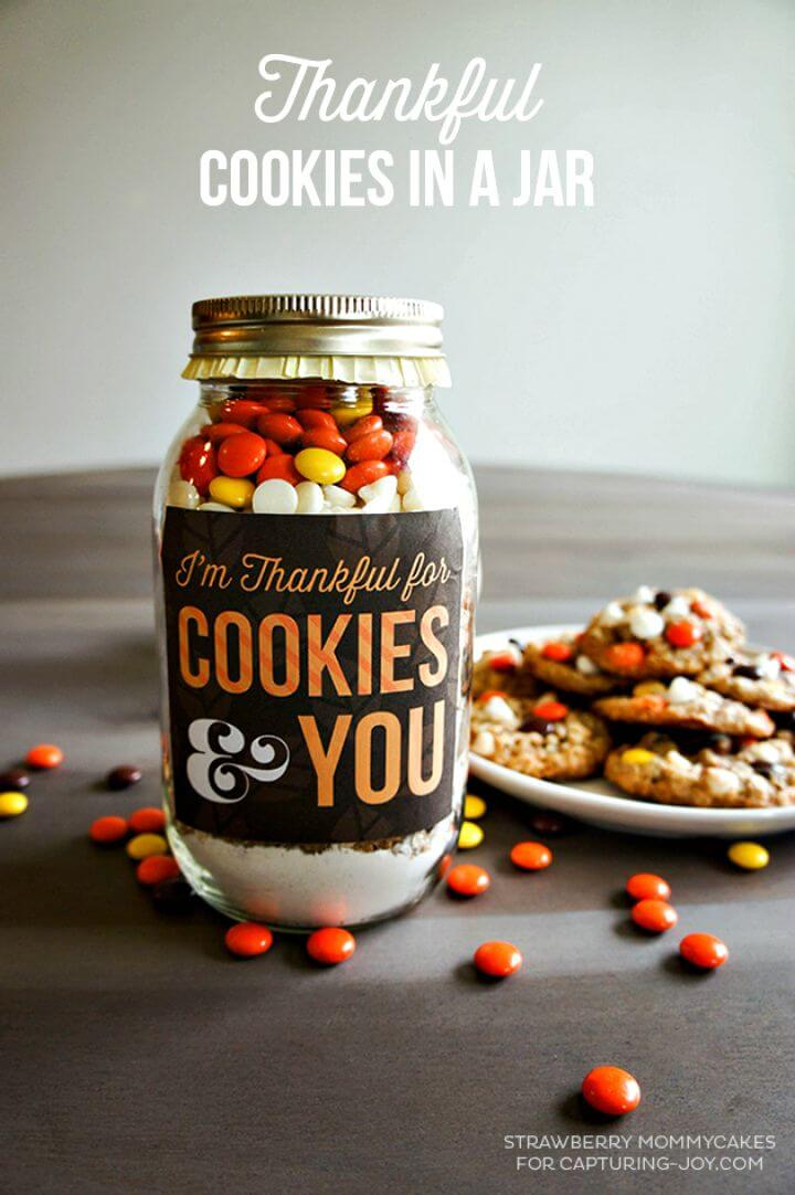 Easy to Make Thankful Cookies in a Jar Recipe