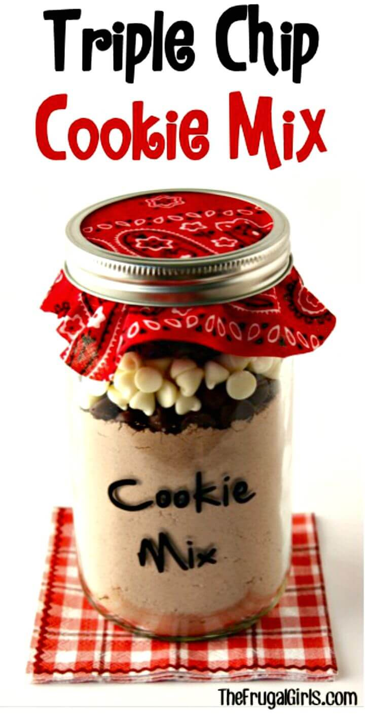 Flavorful Triple Chip Cookie Mix in a Jar Recipe