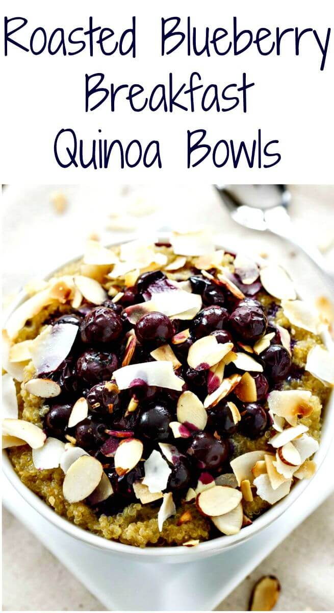 Roasted Blueberry Quinoa Breakfast Bowls Recipe
