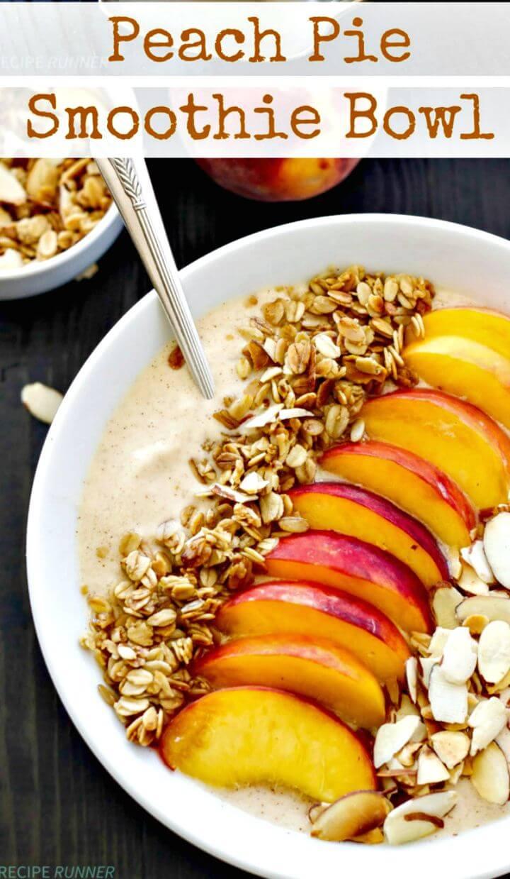 Peach Pie Smoothie Bowl Recipe