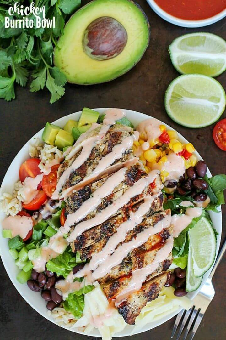 Healthy Grilled Chicken Burrito Bowl Recipe