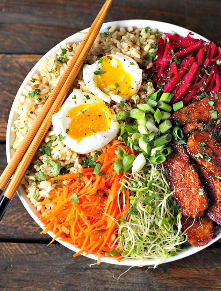 Smoky Tempeh Vegetable and Rice Bowl Recipe