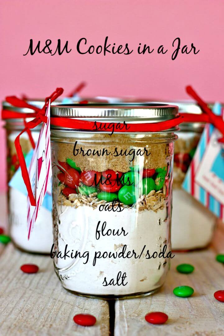Easy and Budget-friendly M&m Cookies In A Jar Recipe