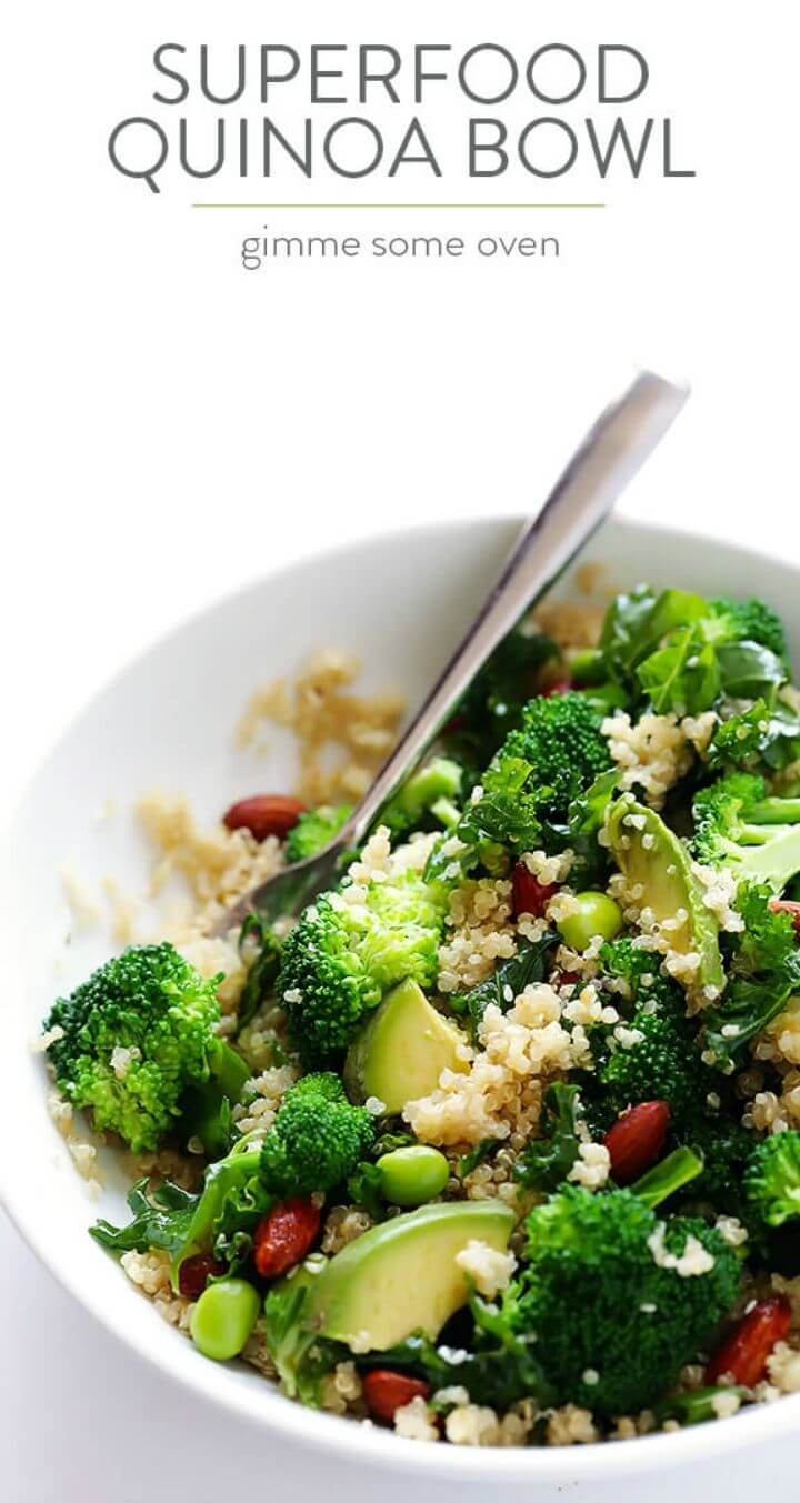 Fresh Superfood Quinoa Bowl Recipe