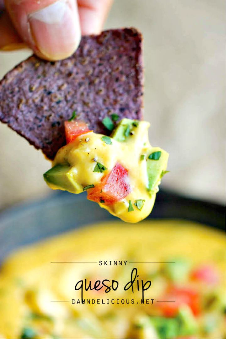 Guilt free Skinny Queso Dip Recipe