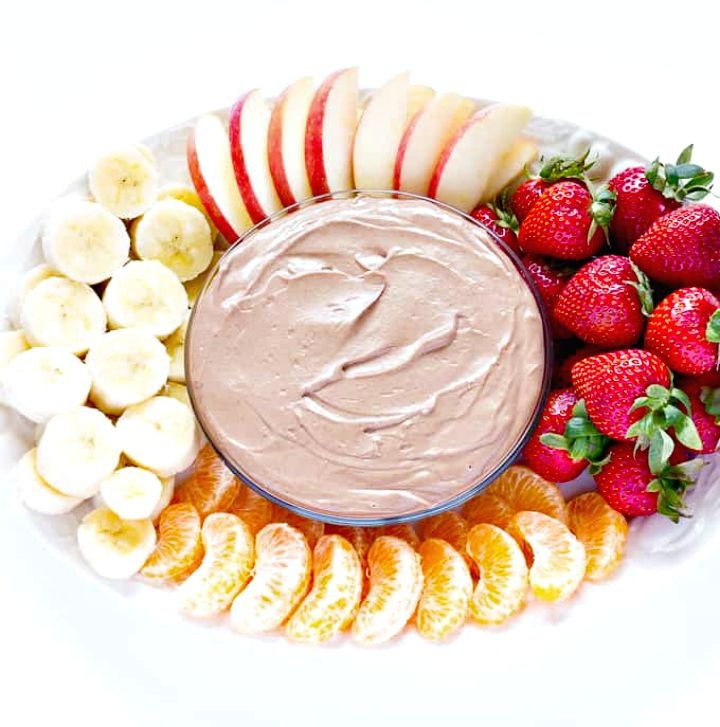 Healthy Chocolate Almond Butter Fruit Dip Recipe