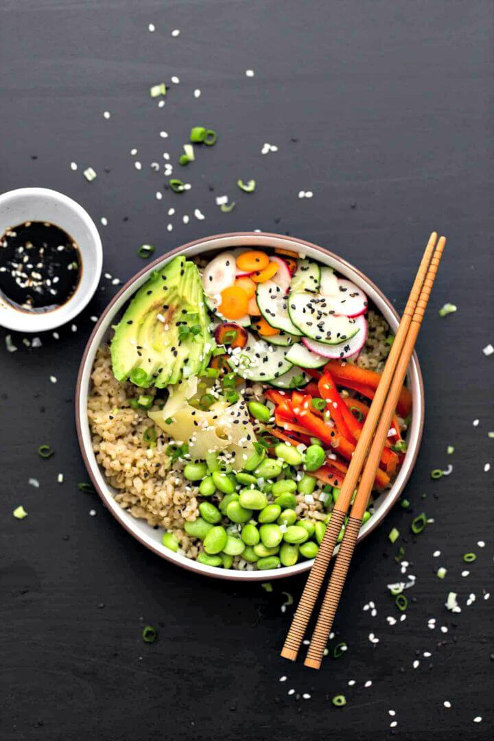 How To Make Vegetarian Sushi Bowl