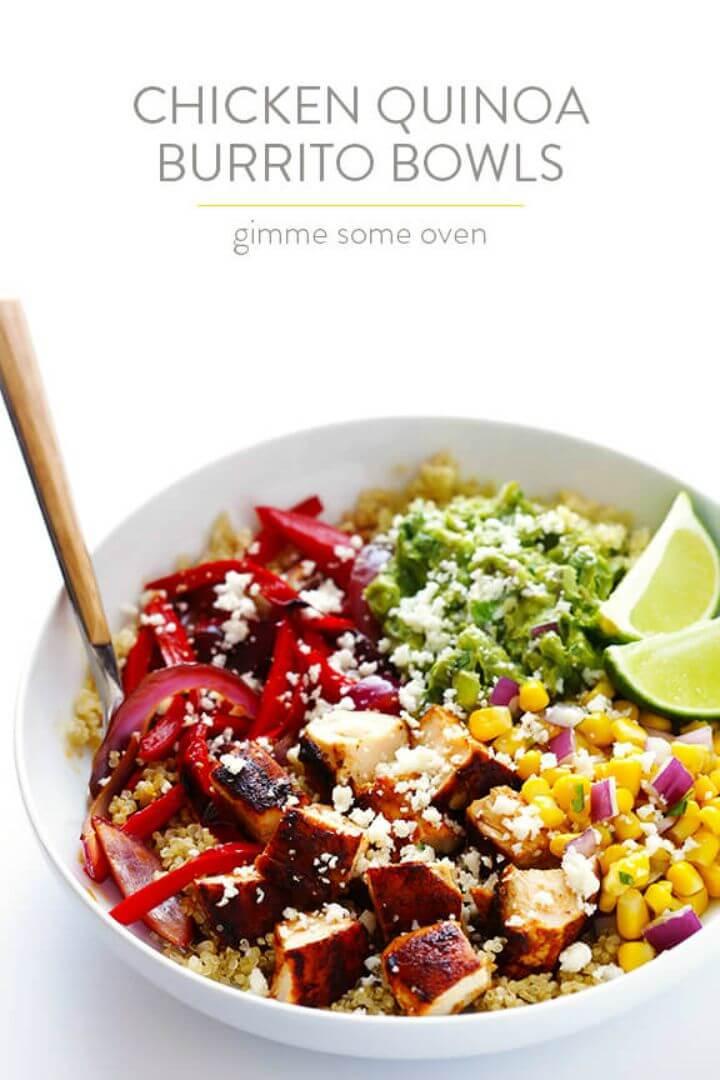 Make Chicken Quinoa Burrito Bowls
