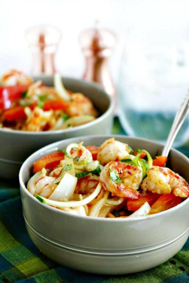 Cajun Garlic Shrimp Noodle Bowls Recipe