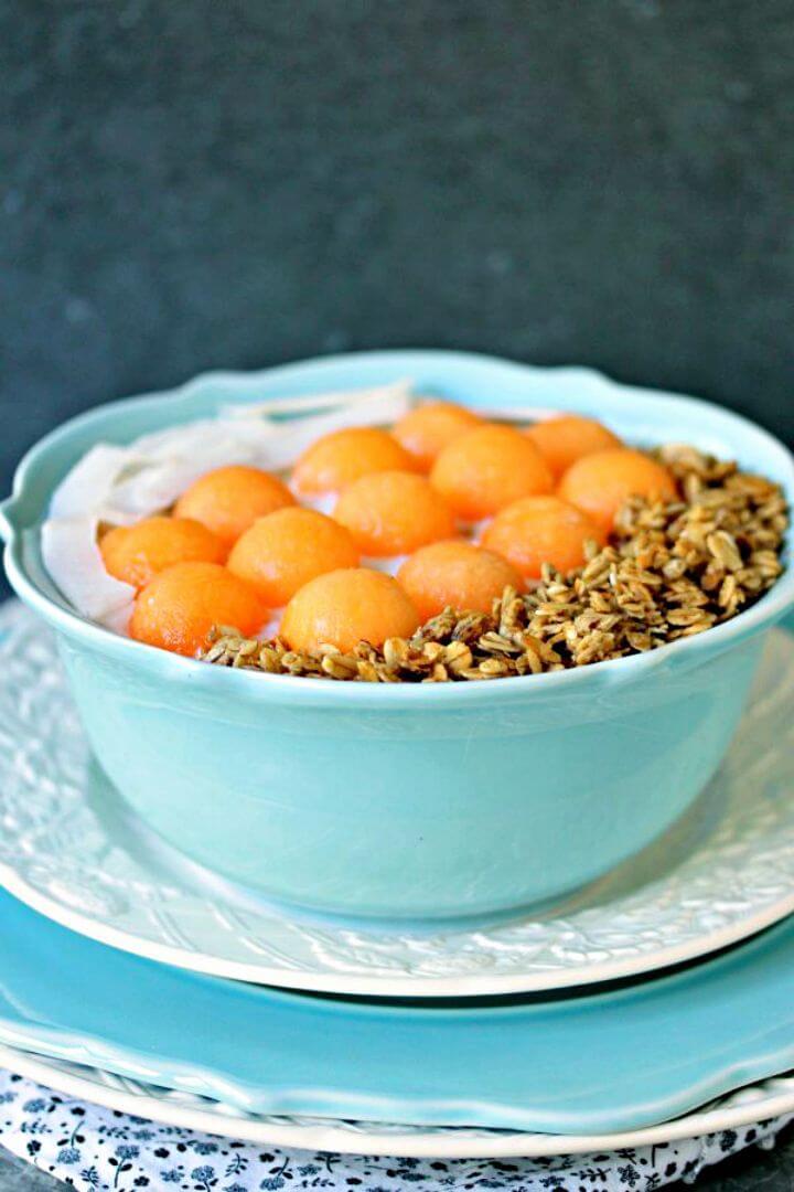 Prepare Cantaloupe Breakfast Bowl