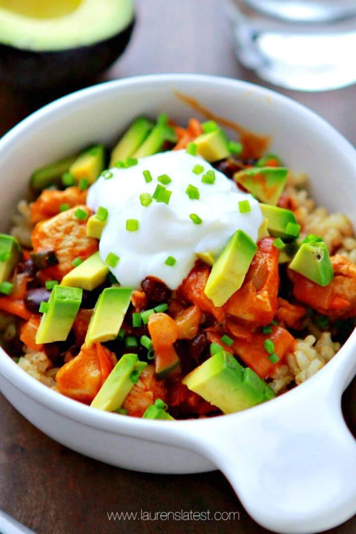 Healthy Chicken Enchilada Bowls Recipe