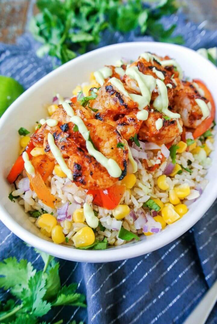 Chipotle Shrimp Burrito Bowl Recipe