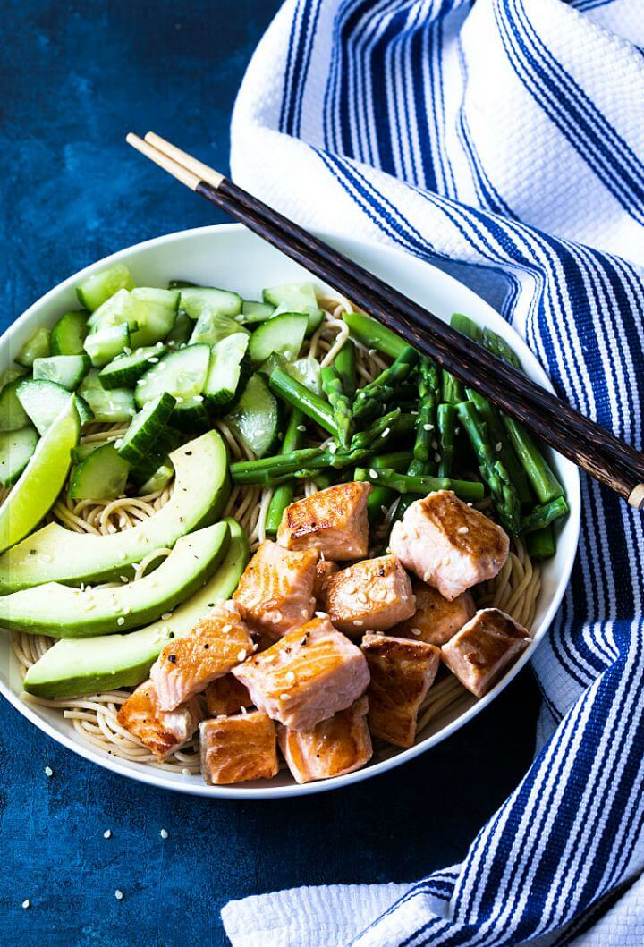 Quick and Healthy Salmon Noodle Bowls Recipe