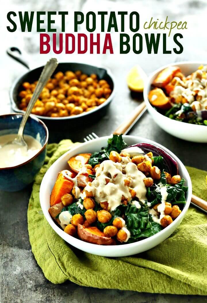 Sweet Potato Chickpea Buddha Bowl Recipe