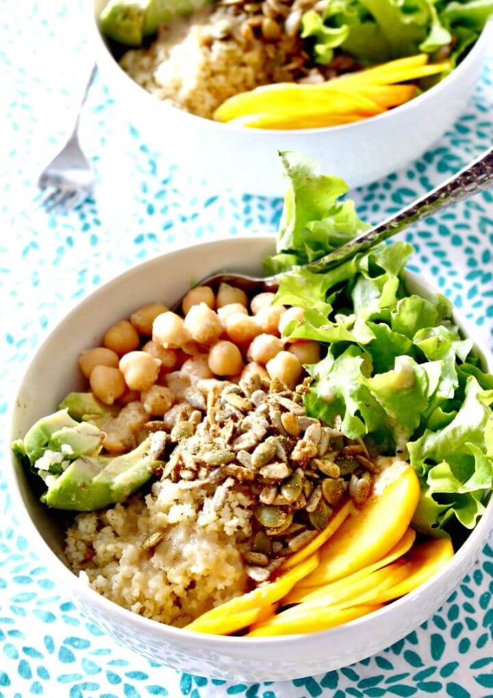 Spicy Springtime Millet Bowls with Crunchy Spicy Seeds