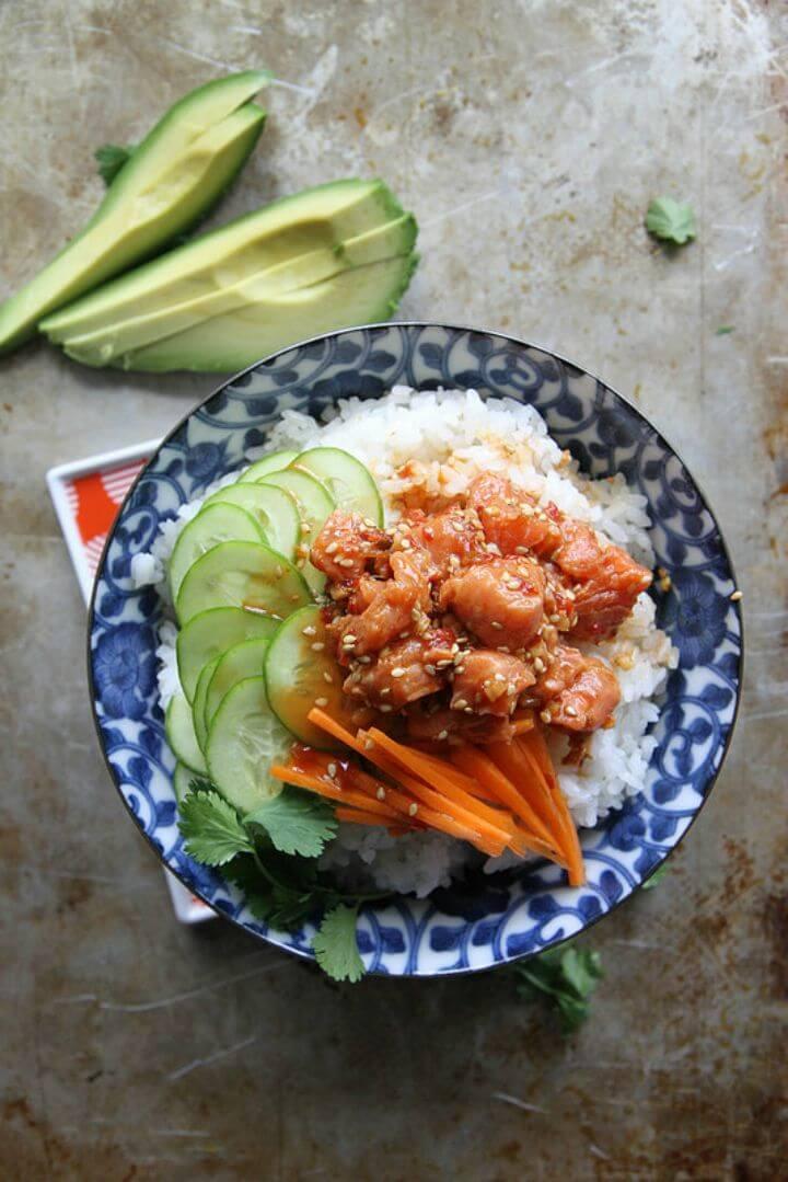 Tasty Salmon Sushi Bowl Recipe
