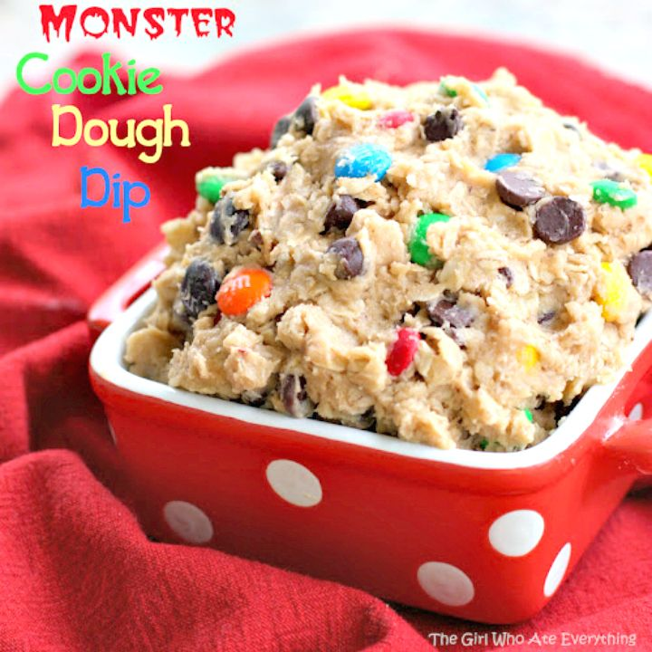 Sweet Monster Cookie Dough Dip Recipe